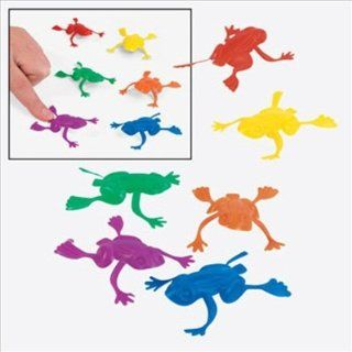 144 pack of Plastic Jumping Frog Party Favor: Toys & Games