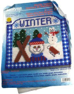 Janlynn Plastic Canvas Kit 21 144 Winter Kitty Wall