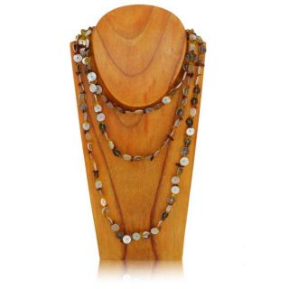 Fine Sea Shell Mother of Pearl Endless Necklace (India)