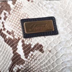 Terrida 21 inch Snake Embossed Leather Trolley Bag