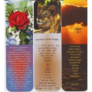 Religious Spanish Bookmarks Lot of 3 Different with Sleeve