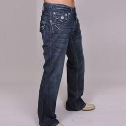 Laguna Beach Jean Co. Mens Seal Beach Blue Stitch Denim