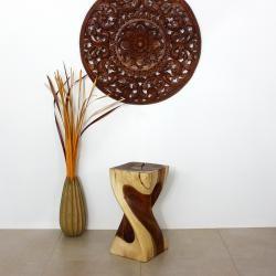 Single Twist Vine Hand crafted Wood Stool (Thailand)