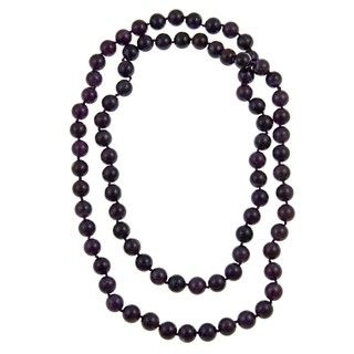 Pearlz Ocean Amethyst 36 inch Knotted Necklace