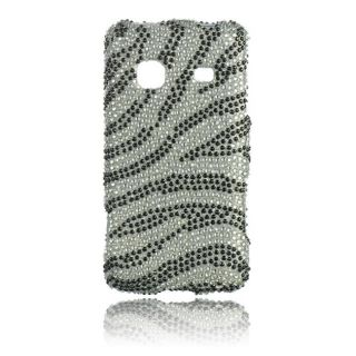 Luxmo Zebra Rhinestone Protector Case for Samsung Galaxy Prevail