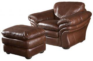 Jensen Leather Ottoman