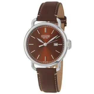 Coach Mens Classic Brown Dial Leather Watch