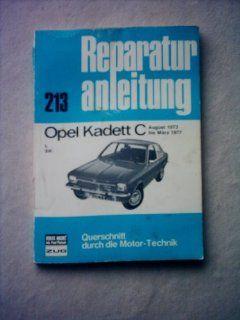 Reparaturanleitung Opel Kadett C (213 Querschnitt durch die Motor