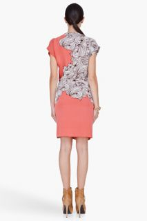 Diane Von Furstenberg Coral Silk Balisi Print Dress for women