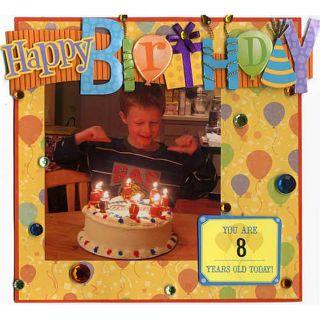 Karen Foster Design 178 piece Birthday Scrapbook Kit