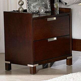 Noho Warm Cherry 2 piece Gallery Nightstand Set