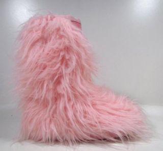 BUFFALO lustige Moon Boots mit Fell (Rosa) 39: Schuhe