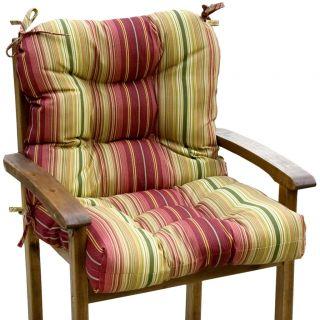 Outdoor Persian Stripe Seat/ Back Combo Cushion