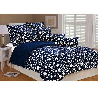 Stars Microplush Printed Comforter Set