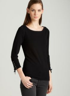 Premise Pullover with lace in black