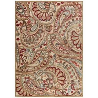 Graphic Illusions Paisley Red Mutli Color Rug (36 x 56)