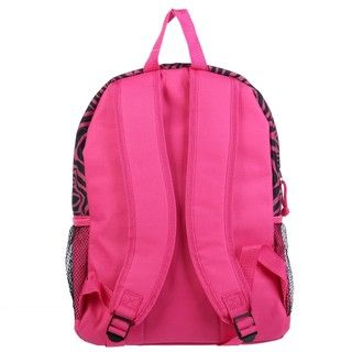 Granite Canyon Pink Zebra 16 inch Backpack wi Lunch Tote