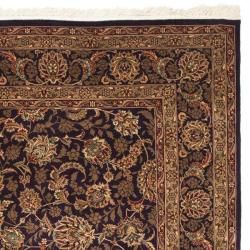 Asian Hand knotted Royal Kerman Purple Wool Rug (8 x 10)