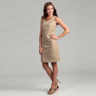 Calvin Klein Womens Sleeveless Studded Dress