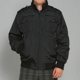 Sportier Mens Black Casual Jacket