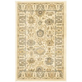 Oushak Blue/ Cream Powerloomed Rug (4 x 57) Today $86.99 Sale $78