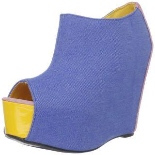 Fahrenheit Womens Mica 01 Blue Wedge