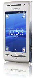 Sony Ericsson Xperia X8 Smartphone weiß/blau Elektronik