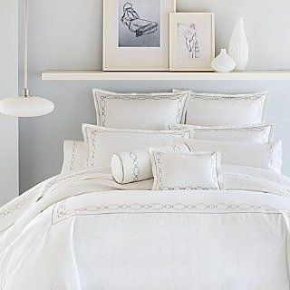 Hudson Park Bedding, Oval Link Links White Aquamarine Full