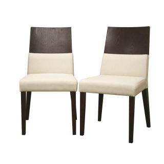 Vivian Brown Wood Modern Dining Chairs (Set of 2)