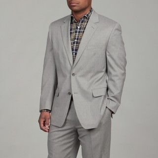MICHAEL Michael Kors Mens 2 button Light Grey Wool Suit