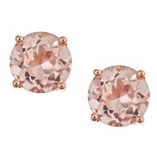 Yach 14k Rose Gold Morganite Stud Earrings