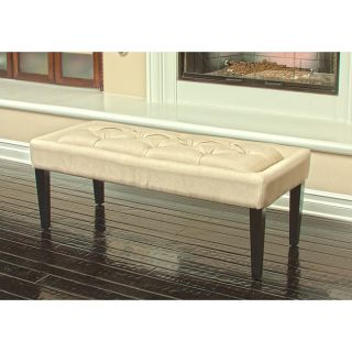 Natural Linen Bench Ottoman