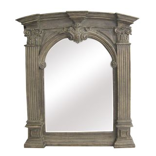 Antique Wood Traditional Arch 30 inch Wall Mirror