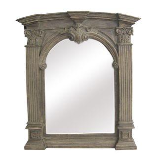 Anique Wood radiional Arch 30 inch Wall Mirror