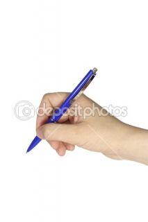 Hand holding pen isolated  Stock Photo © Dzmitry Halavach #1470602