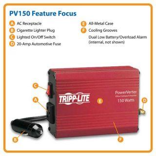 Tripp Lite PV150 Portable Auto Inverter 150W 12V DC to AC 120V 5 15R 1
