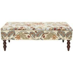 Handmade Rug Light Blue Floral Ottoman