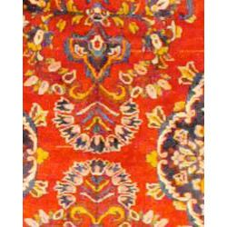 Persian Hand knotted Red/ Yellow Tribal Hamadan Wool Rug (36 x 95