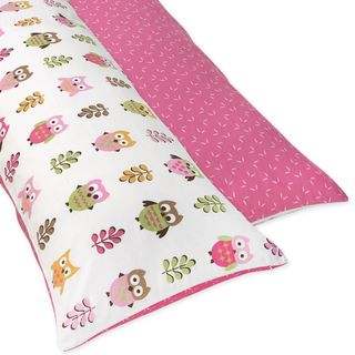 Sweet JoJo Designs Pink Happy Owl Full Length Double Zippered Body