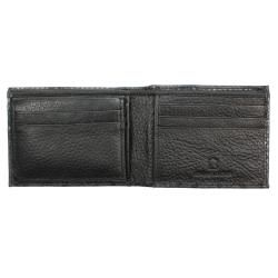 Mens Black Python embossed Leather Bi fold Wallet