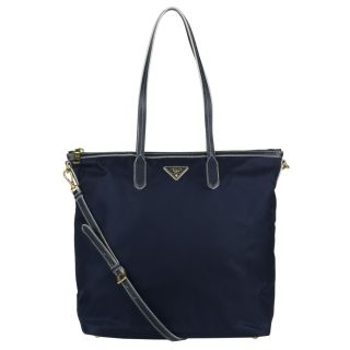 Prada Saffiano Navy Nylon Tote Bag