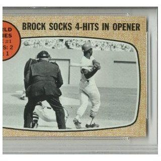1968 Topps #151 World Series Game 1/Lou Brock   GAI NmMt