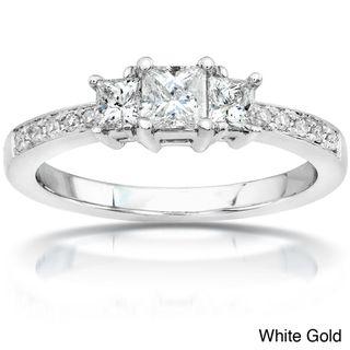 14k Gold 1/2ct TDW Princess Diamond Engagement Ring