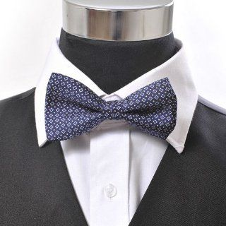 Butterfly Square Bow Tie Navy Blue Dot Everything Else