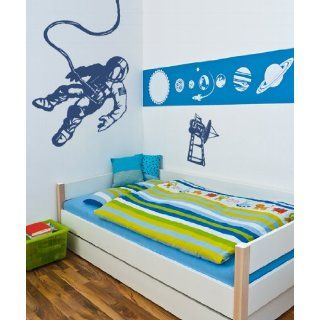 Vinyl Wall Decal Sticker Space Walk Astronaut Satellite