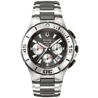 Bulova Mens Marine Star Stainless Steel Chronograph Watch