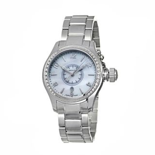 Hamilton Womens Khaki Navy Stainless Steel Quartz Diamond Watch