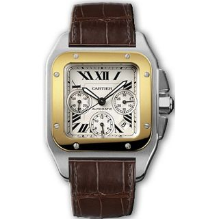 Cartier Santos 100 Mens Two tone Automatic Watch