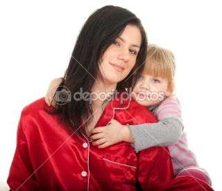 Little girl with mother in bedding  Stock Photo © Marcin Sadlowski