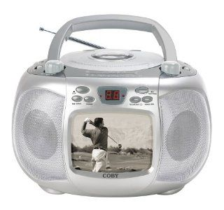 Coby CD TV152 Portable 5 Black & White TV / CD / AM / FM